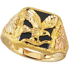 Onyx Eagle Men's Ring - By Mt Rushmore BHG