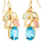 Blue Topaz Earrings - Gold by Landstrom's