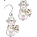 Pearl Snowman Earrings - Gold by Landstroms