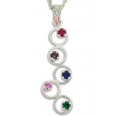 Mothers Pendant with 1 to 5 Genuine Birthstones by Landstroms