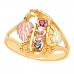 Mothers Ring with 1 to 6 Genuine Birthstones - by Mt Rushmore