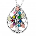 Mothers Pendant with 1 to 8 Genuine Birthstones by Mt Rushmore
