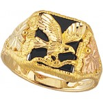 Onyx Eagle Men's Ring - By Mt Rushmore