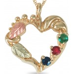 Mother's Heart Pendant 1 to 6 Stones - by Coleman