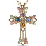 Birthstone/Mother's Cross Pendant 1 to 7 Stoners - by Coleman