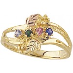 Mothers Ring with 1-6 Genuine Birthstones - by Mt Rushmore