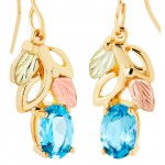 Blue Topaz Earrings - Gold by Landstrom's