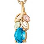 Blue Topaz Pendant - Gold by Landstrom's