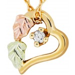 Genuine Diamond Accent Heart Pendant - by Mt Rushmore
