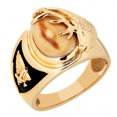 Genuine Elk Ivory Men's Ring - By TRJewelry Concepts