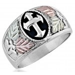 Men's Cross Ring  by Mt Rushmore