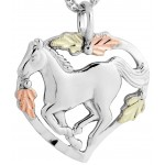 Horse Silhouette Pendant - By Mt Rushmore