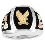 Eagle on Black Onyx Men's Ring - by Coleman