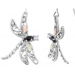 Dragonflies with Black Onyx & CZ by Coleman