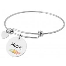 Hope Charm Wire Bracelets - by Landstroms