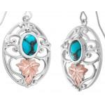 Genuine Turquoise Earrings -  by Landstroms