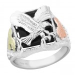 Genuine Onyx Men's Ring - by Mt Rushmore