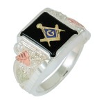 Masonic Men's Ring w/ Genuine Onyx - by Coleman