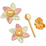 Birthstone - Gold Flower Earring Jackets - by Mt Rushmore