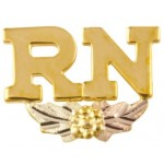 'RN' Nurse Pin - by Mt Rushmore