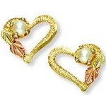 Genuine Pearl Heart Earrings - by Landstrom's