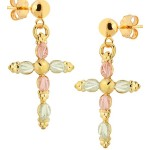 Cross Earrings - by Landstrom's