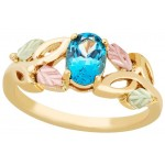 Genuine Blue Topaz Ladies' Ring - by Landstrom's