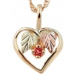 Genuine Birthstones on Heart Pendant - by Mt Rushmore