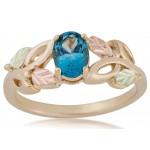 Genuine Blue Topaz Ladies' Ring -by Landstroms