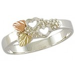 Double Heart Ladies' Ring -  by Landstrom's
