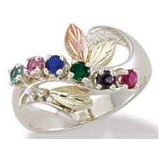 Mothers Ring with 1 to 6 Genuine Birthstones - by Landstroms