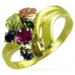 Mothers Ring with 1-7 Genuine Birthstones - by Landstroms