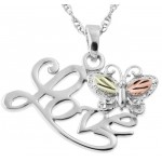 Butterfly Love Pendant -  Mt Rushmore Gold