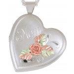 'Mom' 4 Picture Heart Locket - by Coleman