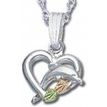 Dolphin & Heart Pendant - by Landstrom's