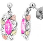 Pink CZ Earrings - by Landstrom's
