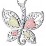 CZ Butterfly Pendant - by Landstrom's