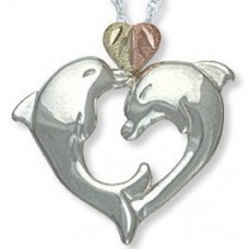 Dolphin Heart Pendant - by Landstrom's