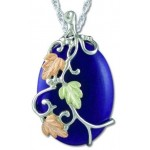 Large 30x22 Dyed Jade Pendant - by Landstrom's