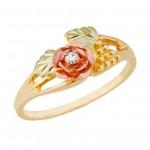 Genuine Diamond w/ Rose  - By Mt Rushmore