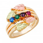 Mothers Ring with 1-7 Genuine Birthstones - by Mt Rushmore