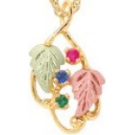 Mothers Pendant with 1-7 Genuine Birthstones - by Mt Rushmore