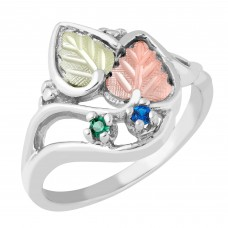 Mothers Ring with 1 to 5 Genuine Birthstones - by Mt Rushmore