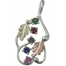 Mothers Pendant with 2 to 6 Genuine Birthstones by Landstroms