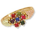 Mother's Ring with 7 to 12 Genuine Birthstones - by Landstroms
