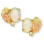 Opal with Diamond Accent Earrings - by Landstroms