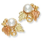 Genuine Pearl Earrings - Gold by Landstroms