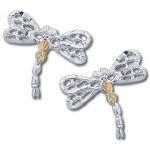 Dragonfly Earrings - Gold by Landstrom's