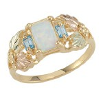 Opal with Blue Topaz Ladies' Ring - by Landstroms