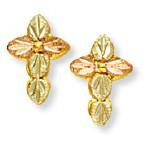 Cross Earrings - Gold by Landstroms